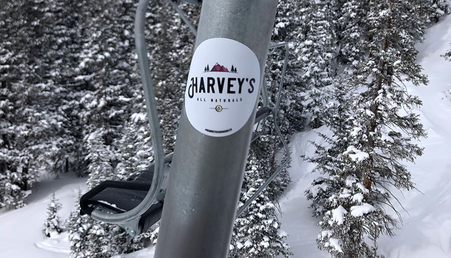 Harveys CBD ski sticker