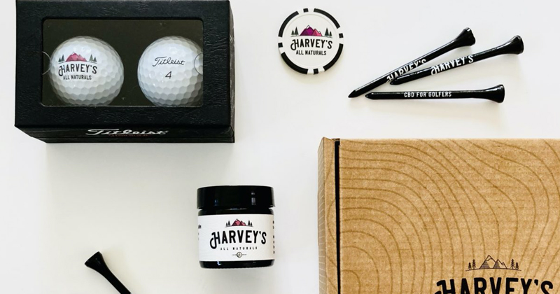cbd golf gift box items
